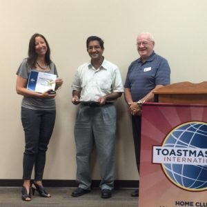 Tamara Dark wins Humorous Speech Contest Fall 2016